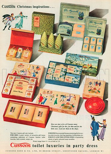 Cussons Toilet Soaps Advertisement, 1953.
