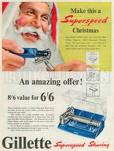 Gillette Advertisement, 1953.