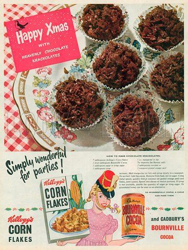 Cadbury's Bournville Cocoa Advertisement, 1953.