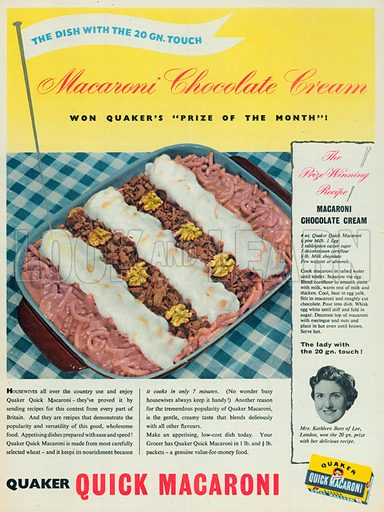 Quick Macaroni Advertisement, 1956.