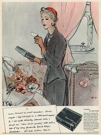 Black Magic Advertisement, 1956.