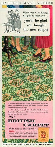 British Carpet Advertisement, 1956.