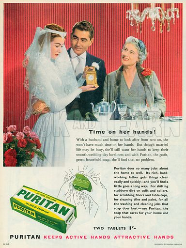 Puritan Soap Advertisement, 1956.