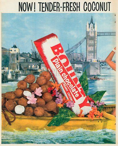 Bounty Plain Chocolate Advertisement, 1956.