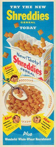 Shreddies Cereal Advertisement, 1956.