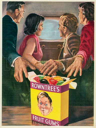 Rowntree's Fruit Gums Advertisement, 1956.