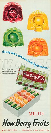 Meltis New Berry Fruits Advertisment, 1956.