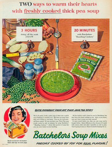 Batchelors Soup Mixes Advertisement, 1956.
