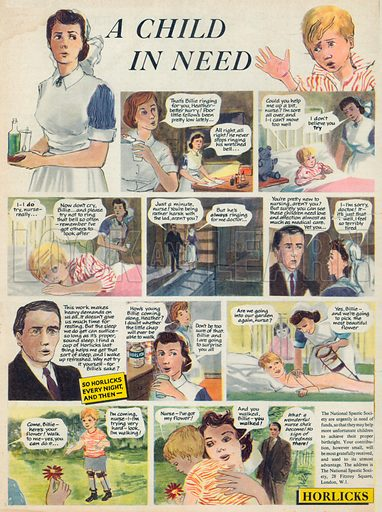 Horlicks Advertisement, 1955.