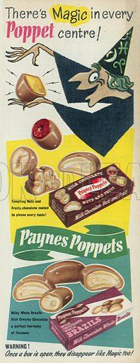 Paynes Poppets Advertisment, 1955.