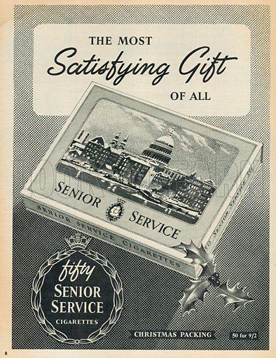Fifty Senior Service Cigarettes Advertisement, 1955.