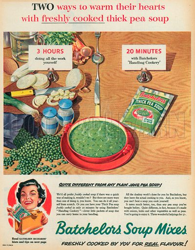 Batchelors Soup Mixes Advertisement, 1955.