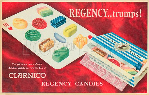 Clarnico Regency Candies Advertisement, 1955.