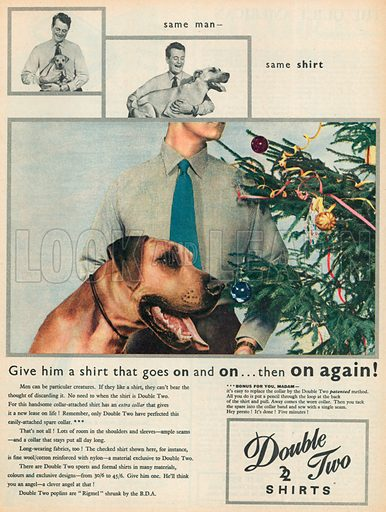 Double & Two Shirts Advertisement, 1955.