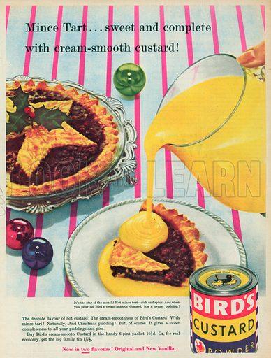 Bird's Custard Powder Advertisement, 1955.