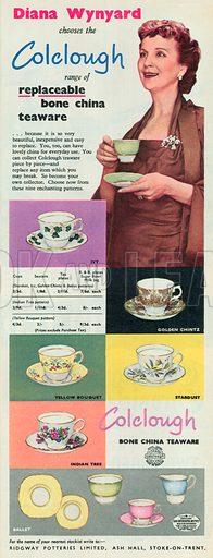 Coclough Teaware Advertisement, 1955.