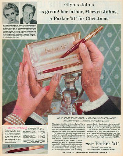Parker '51' Advertisement, 1955.