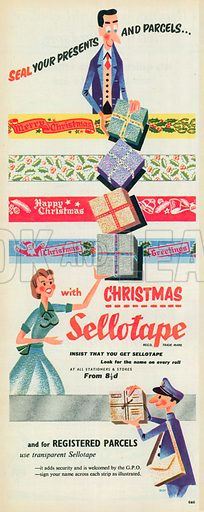 Sellotape Advertisement, 1955.