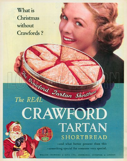 Crawford Tartan Shortbread Advertisement, 1955.