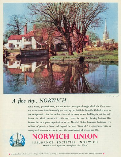 Norwich Union Advertisement, 1955.