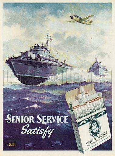 Senior Service Cigarettes Advertisement, 1955.