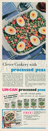 Lin-Can Processed Peas Advertisement, 1955.