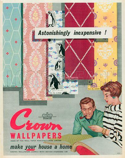 Crown Wallpapers Advertisement, 1955.