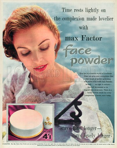 Max Factor Advertisement, 1955.