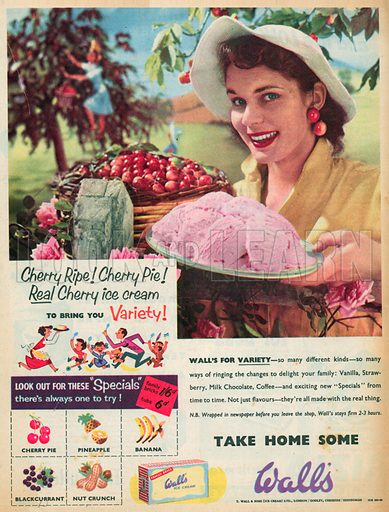Wall's Ice Cream Advertisement, 1955.