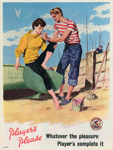 Player's Navy Cut Advertisement, 1955.