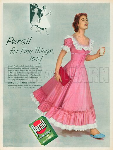 Persil Washes Whiter Advertisement, 1955.