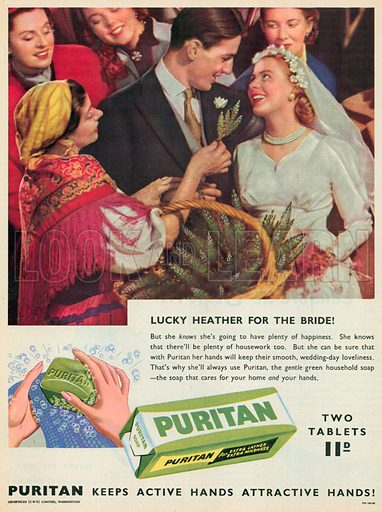 Puritan Soap Advertisement, 1955.