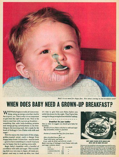 Grown Up Breakfast Advertisement, 1955.