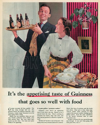 Guinness Advertisement, 1955.