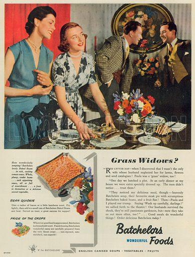 Batchelors Wonderful Foods Advertisement, 1952.