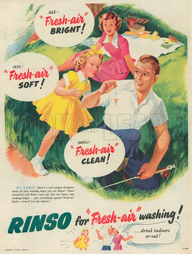 Rinso Advertisement, 1952.