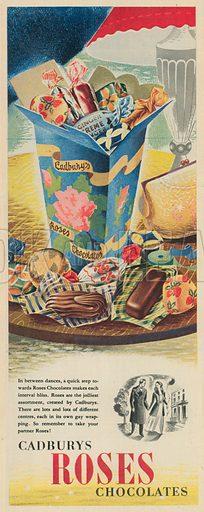 Cadbury's Roses Chocolates Advertisement, 1951.