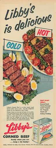 Libby's Corned Beef Advertisement, 1957.