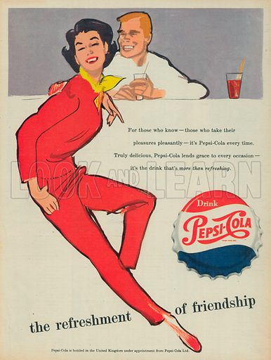Pepsi-Cola Advertisement, 1956 - Look and Learn History