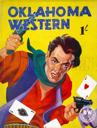 Oklahoma Western (Guns of Wrath by Whyatt Preston), Brown Watson, 1948. This cover was used in the movie The Third Man for a novel written by Holly Martins (Joseph Cotton).