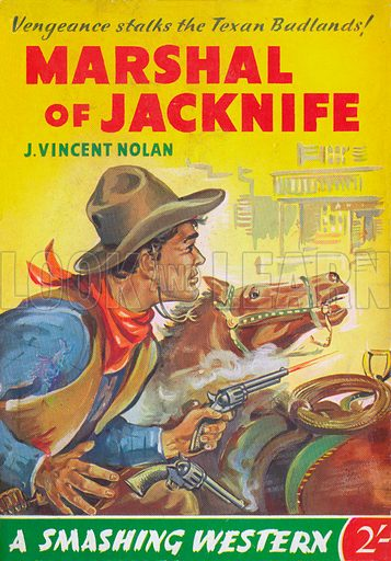 Marshal of Jacknife by J. Vincent Nolan, Fiction House (Smashing Western), 1951.
