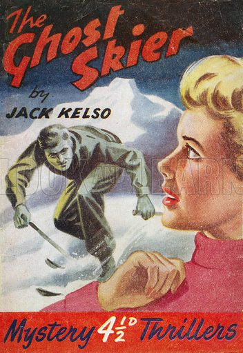 The Ghost Skier by Jack Kelso, Grayling Publishing (Mystery Thrillers 8), 1949(?).