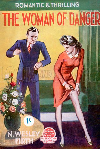The Woman of Danger by N. Wesley Firth, Modern Fiction, 1946.