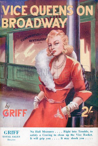 Vice Queens on Broadway by Griff, Modern Fiction, 1951.