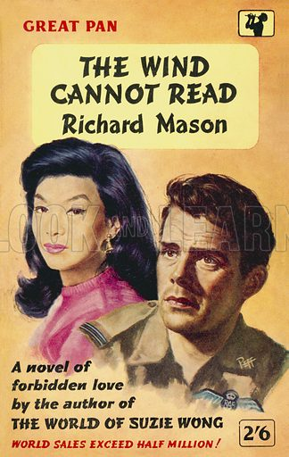 The Wind Cannot Read by Richard Mason, Pan Books G119, 1958. Movie tie-in edition.