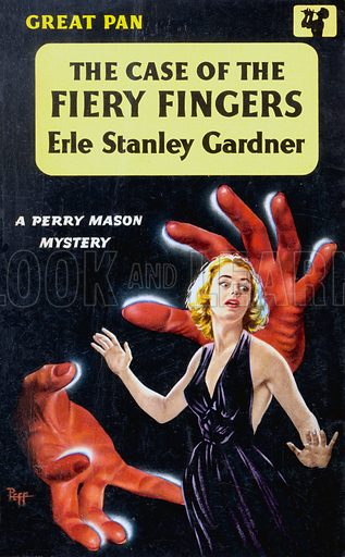 The Case of the Fiery Fingers by Erle Stanley Gardner, Pan Books G224, 1959.