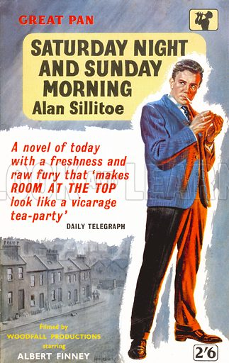 Saturday Night and Sunday Morning by Alan Sillitoe, Pan Books G391, 1960. Movie tie-in edition.