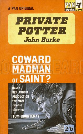 Private Potter by John Burke, Pan Books G598, 1962. Movie tie-in edition.