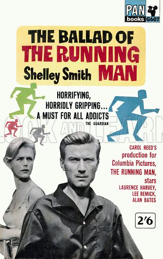 The Ballad of the Running Man by Shelley Smith, Pan Books G607, 1963. Movie tie-in edition.