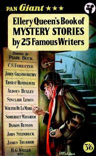 Ellery Queen's Book of Mystery Stories by 25 Famous Writers (The Literature of Crime) edited by Ellery Queen, Pan Books X12, 1957.